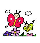 ゆるーい蜂と蝶々(個別スタンプ:11)