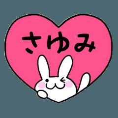 ◆さゆみ◆専用 名前 ♡パステルうさぎ♡