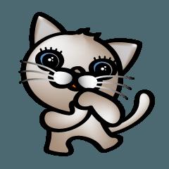 かわいい子猫、名前はマロンです。