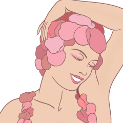[LINEスタンプ] 薔薇の精の顔 (1)