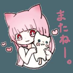 ピンクな猫耳少女2