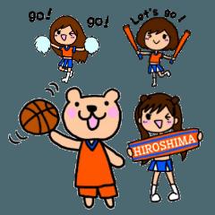 バスケットボール くまとチアガール