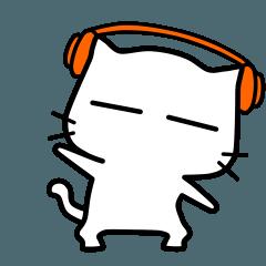 white cat - super naughty