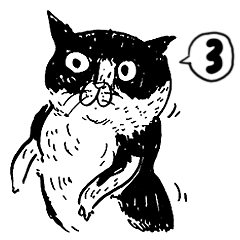 eh!cat! Black and white illustrations 3