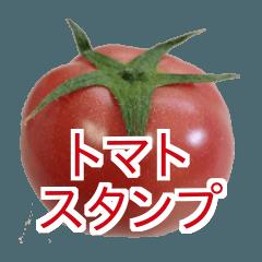 トマトの写真スタンプ