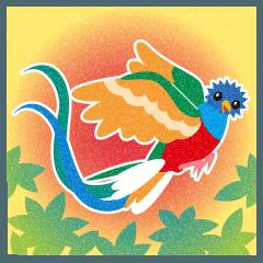 世界一美しい鳥といわれるケツアール