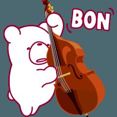 動く!クマなのにコントラバス弾きます。