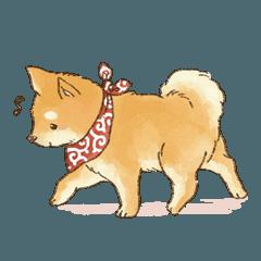 可愛い柴犬の日常スタンプ
