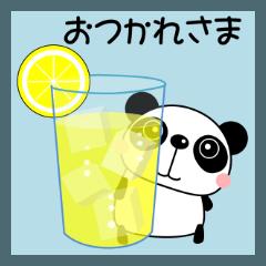 日常会話スタンプ 敬語 ぱぱんこ 夏編