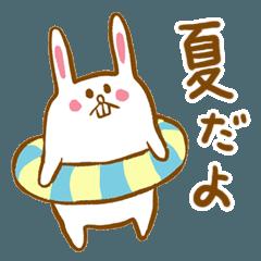 夏のハラマキウサギ