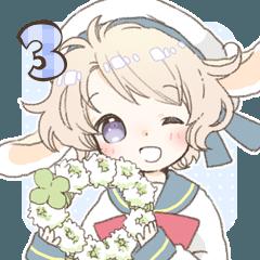 [LINEスタンプ] うさみみ少年ニコラ 3 (1)