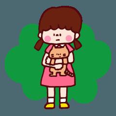 女の子(ときどき猫)