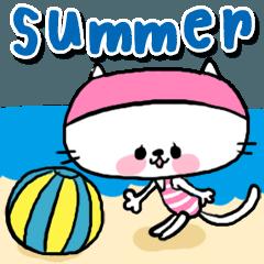 【neco】夏のスタンプ