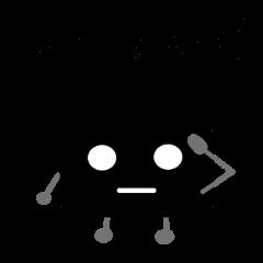 黒玉四角うさぎ