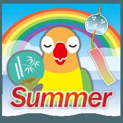 梅雨&夏に使える〜丸い目のボタンインコ