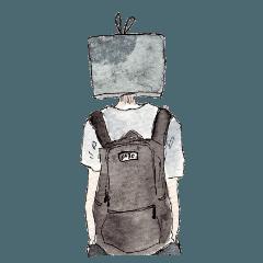 [LINEスタンプ] テレビ異形頭スタンプ