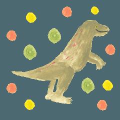 素朴な恐竜のスタンプ