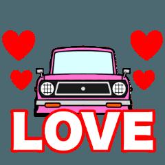 [LINEスタンプ] 旧車のトラックの画像(メイン)