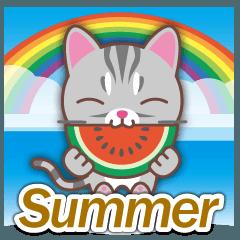 梅雨&夏に使える〜アメショーとアメ車