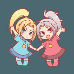 Ponytail twins
