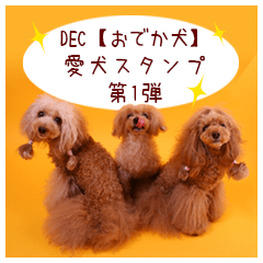 DEC【おでか犬】愛犬スタンプ第1弾