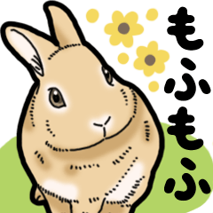 [LINEスタンプ] もふもふウサギ 3