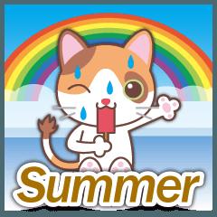 梅雨&夏に使える〜三毛猫とオート三輪