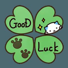 [LINEスタンプ] 40匹の水玉猫3【ていねいな返事と挨拶編】 (1)