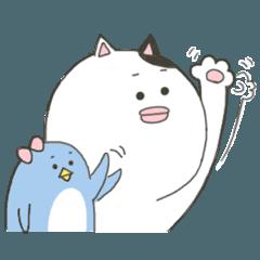 ねこ太とペ子【気軽に使えるスタンプ】
