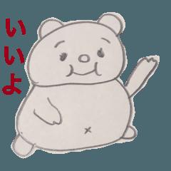 太き生き物スタンプ