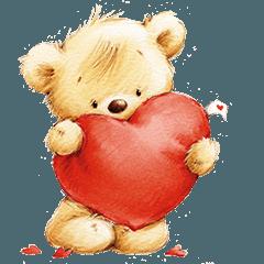 St. Valentine & Love Bears Stickers