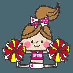 チア!チアリーダーの日常会話【ピンク】
