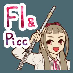 フルート&ピッコロ女の子