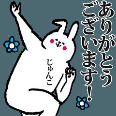 じゅんこちゃん専用の名前スタンプ!