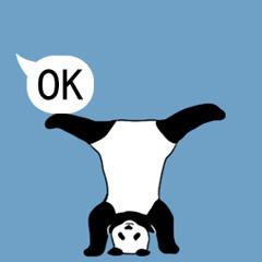 動く!パンダ、吹き出しにあらわる
