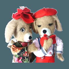 ひかると桜子が羊毛フィギアに大変身!