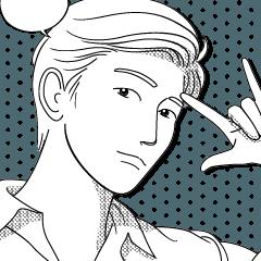 若い男の顔