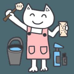 主婦ねこさんーお掃除、家事編