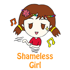Shameless Girl Stickers