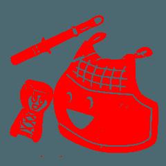 剣道 かわいい小手面胴 はんこ風