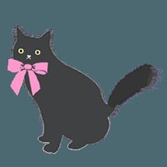 黒猫のルナ