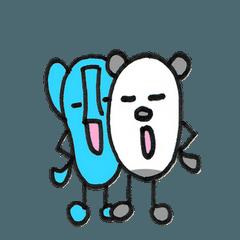 象のハヤ 03 (パンダも一緒)