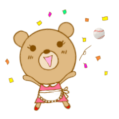 野球&ソフト応援ママくまさん