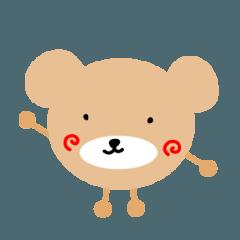 しらたま茶色熊