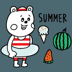 ラクガキ調☆くまフレンズ【夏】