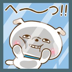 【擬音語】だらけの愉快な白い犬ぽち吉!