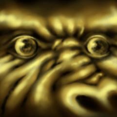 暗闇の金のゴリラ