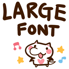 Large font of catbats (English)