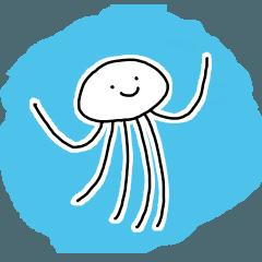 クラゲのスタンプ 3