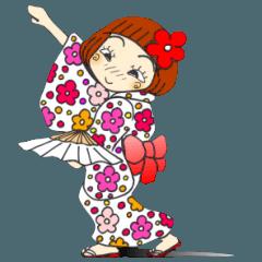 ひま子ちゃん101 浴衣で夏の挨拶3